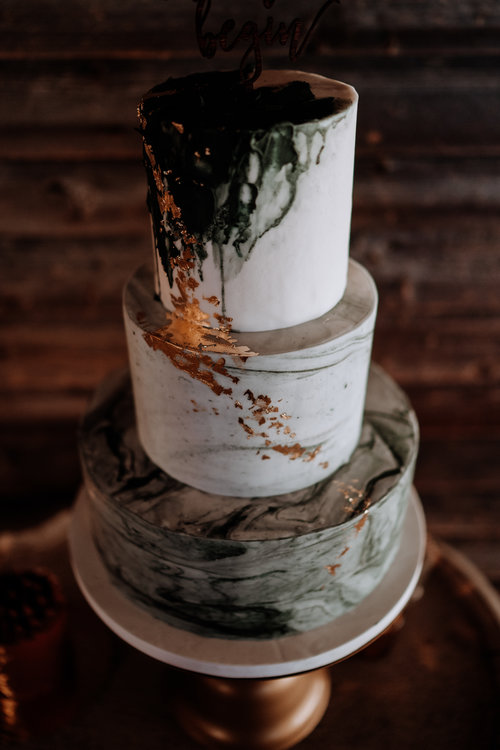 Nutmeg Cake Design Marble Wedding Cake