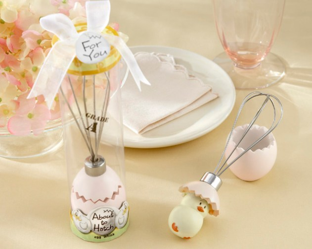 Baby Shower Favors About to Hatch Egg Whisk