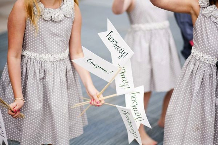 Wedding Exit Flags