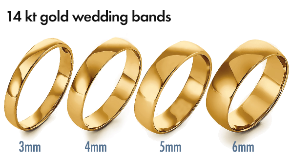 Go For Gold New Solid 14kt Gold Wedding Bands Jewelry