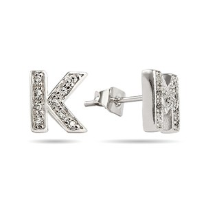 Custom initial cubic zirconia earrings at eves addiction jewelry