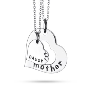 mother's day mother daughter necklace set