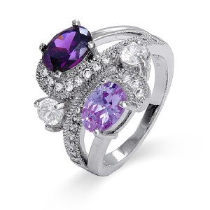 2 stone birthstone ring for mom rings with birthstones