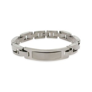 stainless steel mens engravable ID bracelet for him eves addiction gifts