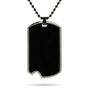 personalized black dog tag necklace for dad on fathers day gift ideas for dad chipped dog tag