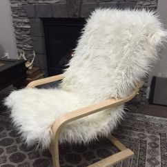 Faux Fur Chair Cover Glider Canada Diy Furniture Hacks