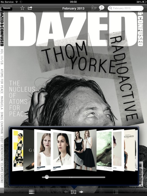 Pageflow in the Dazed & Confused app