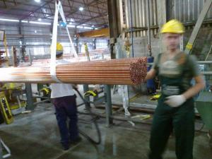 copper pipe blow off