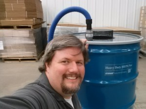 Selfie with the very first 110 Gallon Heavy Duty Dry Vac