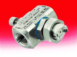 External Mix Atomizing Spray Nozzles offer independent adjustment of flow rate and pattern.