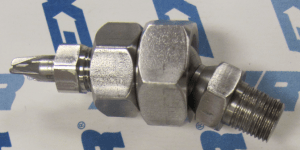 """1110SS-NPTW - Nano Super Air Nozzle w/ NPT Adapter and 1/8"""" NPT Swivel Fitting"""