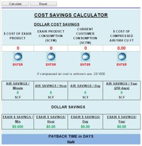 Our Air Savings Calculator will show you total dollars saved and payback time.