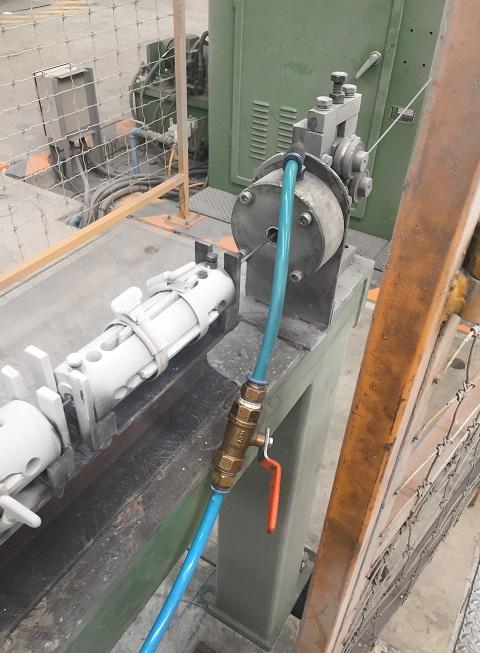 Wire galvanizing machine homemade air wipe