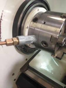 EXAIR Model 1100 Super Air Nozzle is commonly used in point-of-cutting debris removal applications.