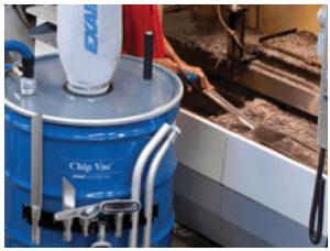 Heavy Duty Dry Vac in operation