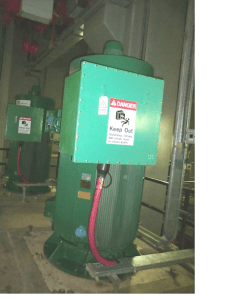 Overheating electrical enclosure at Kuwaiti sewage station