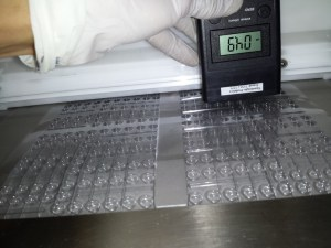 Thermoformed trays before EXAIR