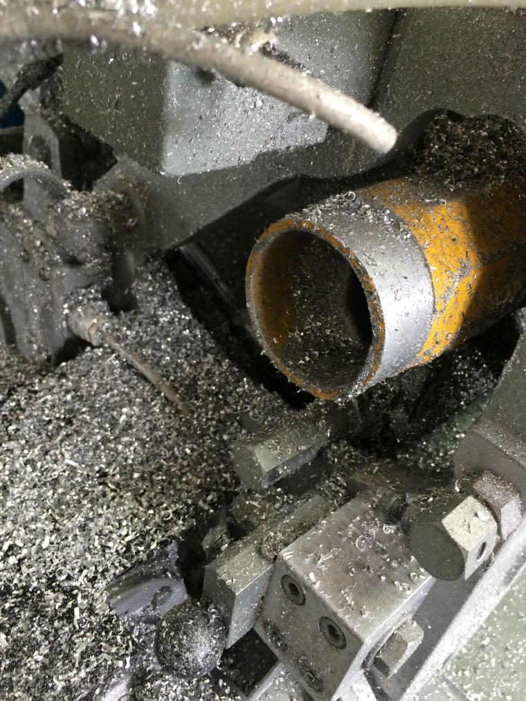 Swarf - fine metal chips from machining