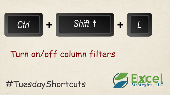 CTRL + SHIFT + L - Turn off column filters