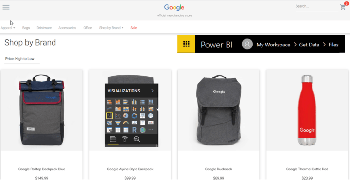 Getting started with Microsoft Power BI using Google Merchandise store data