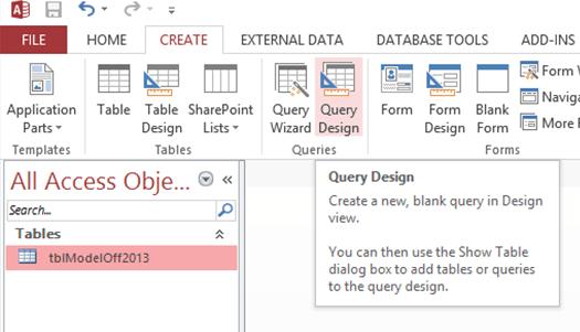 ModelOff 2013 Data Analysis problem - Query Design
