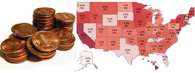 USA State Tax Map