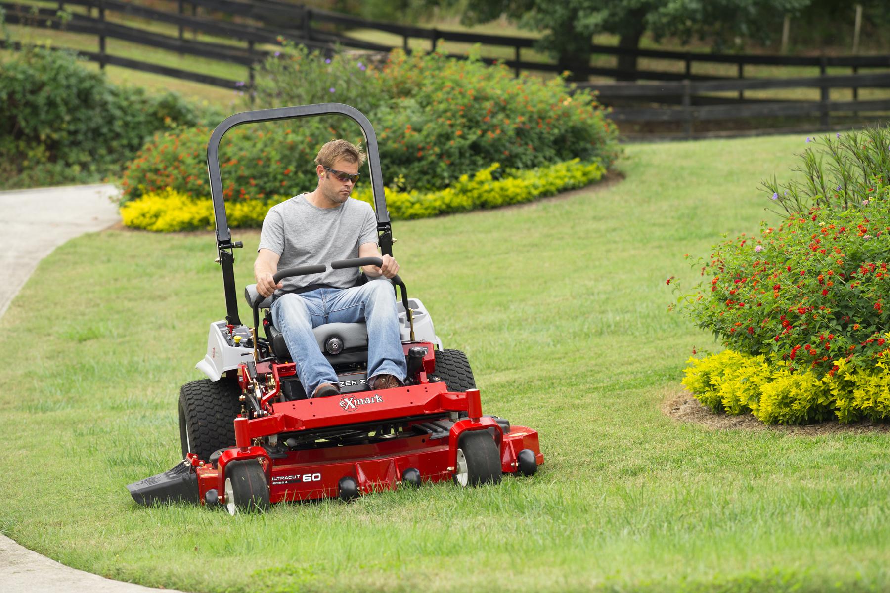 hight resolution of exmark lazer z zero turn mower