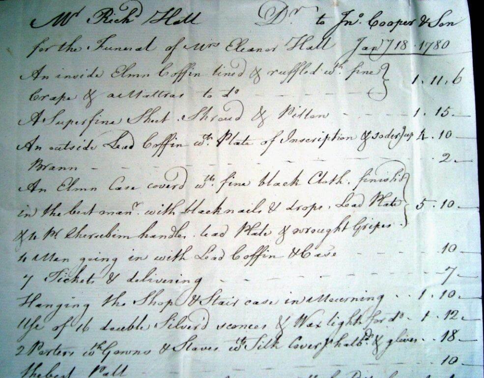18e siècle facture