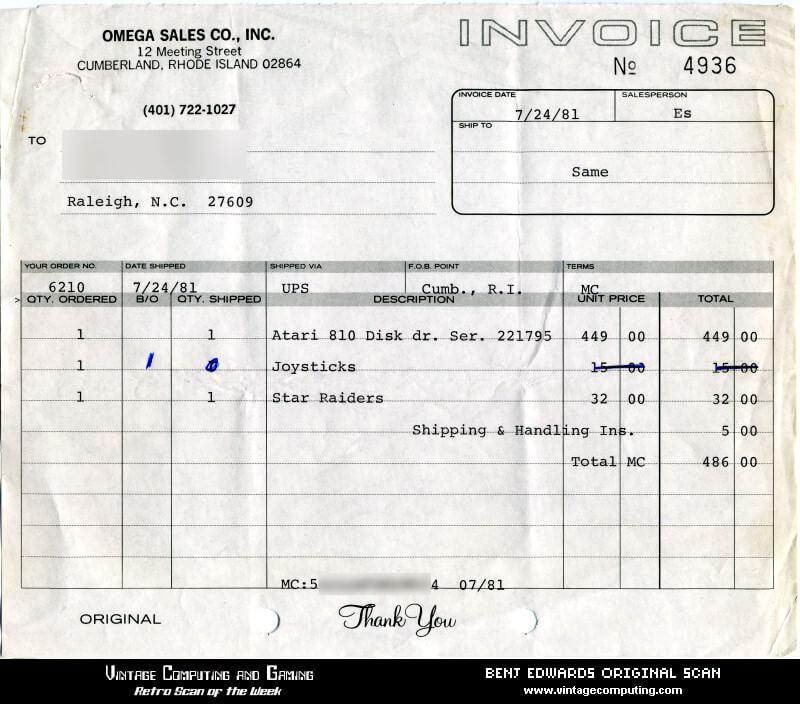 facture de 1980