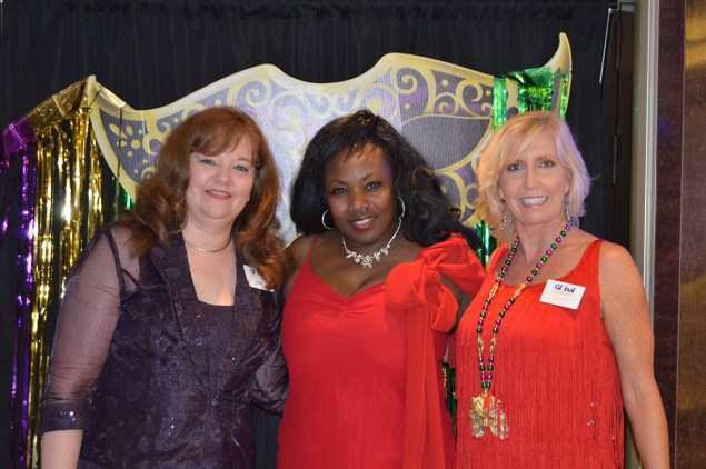 : Global Travel Manager Lori S., jazz entertainer Cleo Heart and Travel Consultant Jacky B.