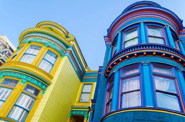 Colorful homes in San Francisco, CA