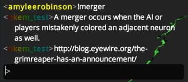 !merger eyewire chat bot command