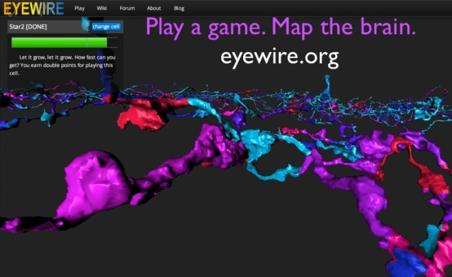 play a game. map the brain. eyewire