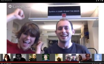 EyeWire Hangout on Air Screenshot
