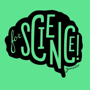 eyewire for science black on green, eyewire onfire, for science!, for science, eyewire, citizen science, brain, design
