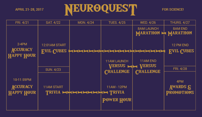 competition, neuroquest, eyewire, calendar