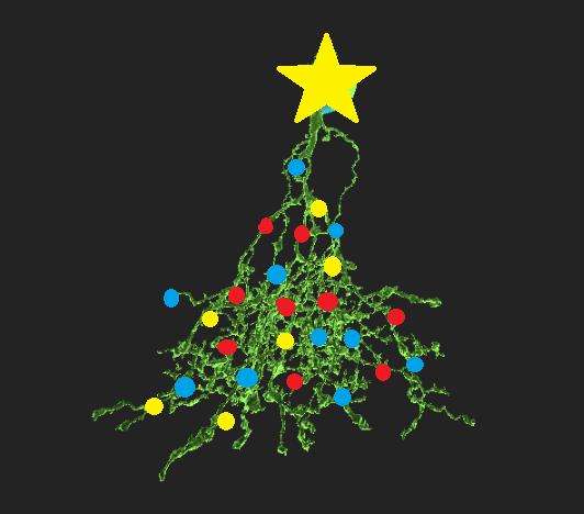 Atani, december, neuron christmas tree