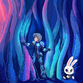 Lina, Nurro, white rabbit, Accuracy Happy Hour, Eyewire, alice in wonderland, rods, cones, photoreceptors