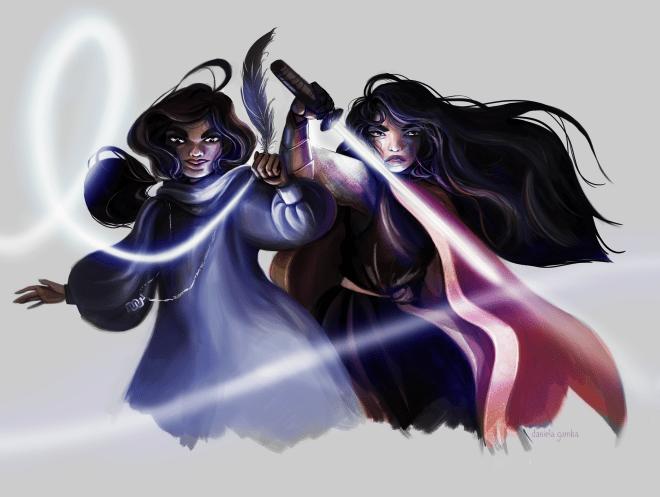 sword, pen, vs