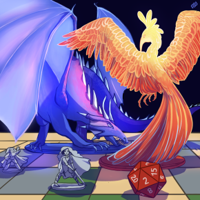 citizen science, Eyewire, dragon, phoenix, Dungeons and Dragons, game, citizen sciene, sciart, space, science, art, eyewire, eyewire art