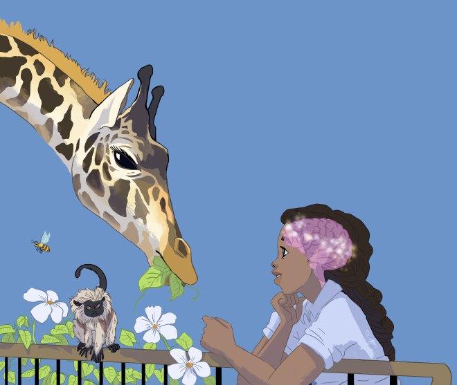 brain zoo, animals, science, giraffe, brains, fun, competitino
