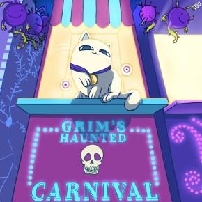 eyewire, closing ceremony, citizen science, nurro, neuromonster, brain monster, monsters, grim reaper, grim's haunted carnival, halloween, fat cat