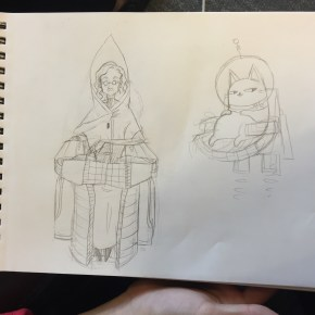 eyewire concept art, eyewire heroes, heroes, citizen science, concept art, character design, Hyunah Choi