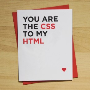 valentine's card, funny, humor, pun, lol, dad jokes, punny, geek, geeky card, html, css, developer humor