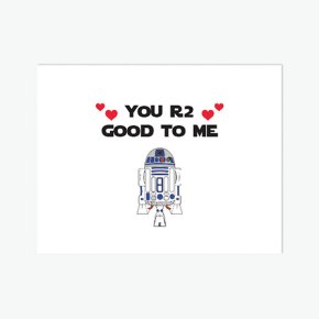 valentine's card, funny, humor, pun, lol, dad jokes, punny, geek, geeky card, r2d2