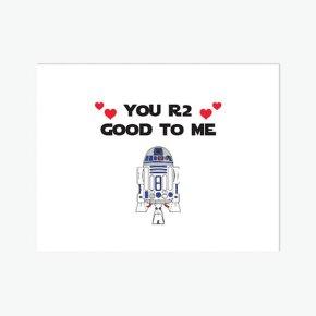 valentine's card, funny, humor, pun, lol, dad jokes, punny, geek, geeky card, r2d2