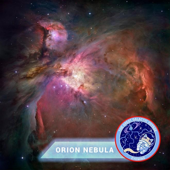 Orion Nebula, stars, astronomy, Eyewire, citizen science, Great Galactic Voyage, Nurro, NASA