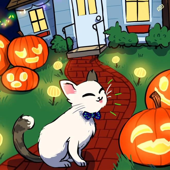 Casper, Halloween, Eyewire, citizen science, Grim's Trick or Treat, Daniela Gamba
