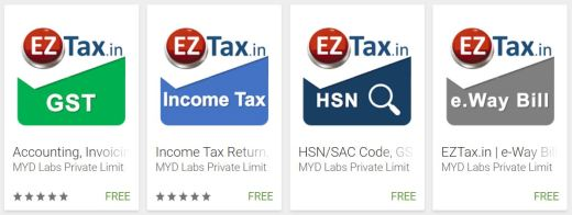 EZTax.in Apps in Google play store Tax, Accounting, GST, TDS