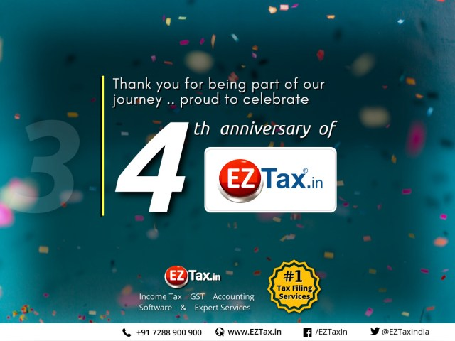 4 years since .. same passion perseverance | EZTax.in